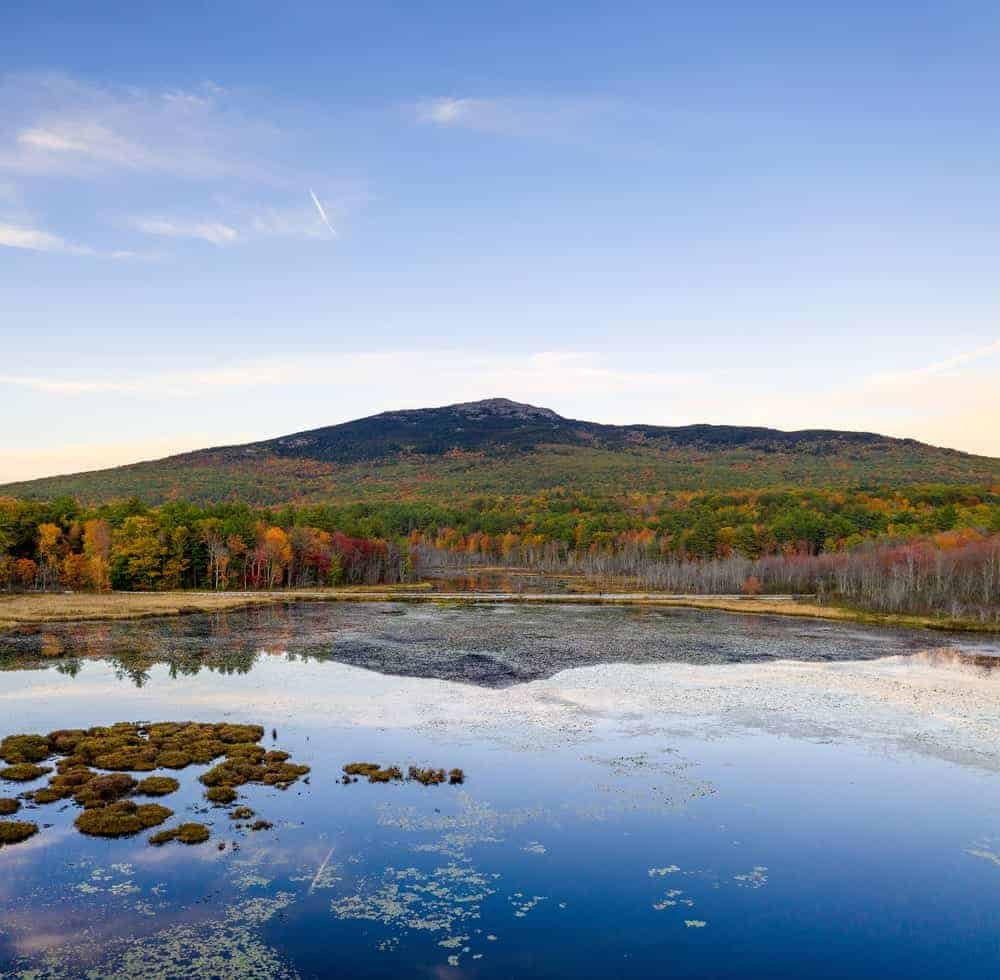 A look at the tall Mt. Monadnock from afar.