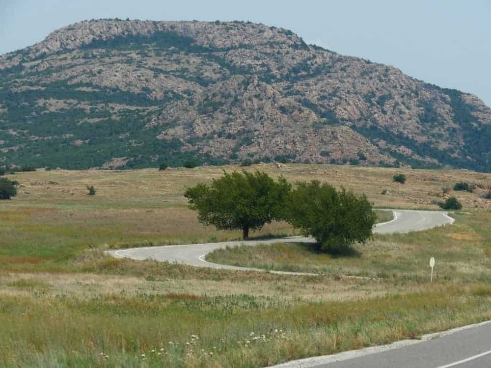 A look at Mt. Scott from the winding road.