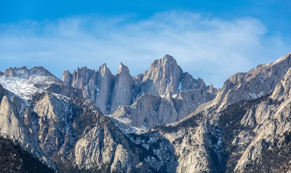 This is an aerial view of Mt. Whitney.