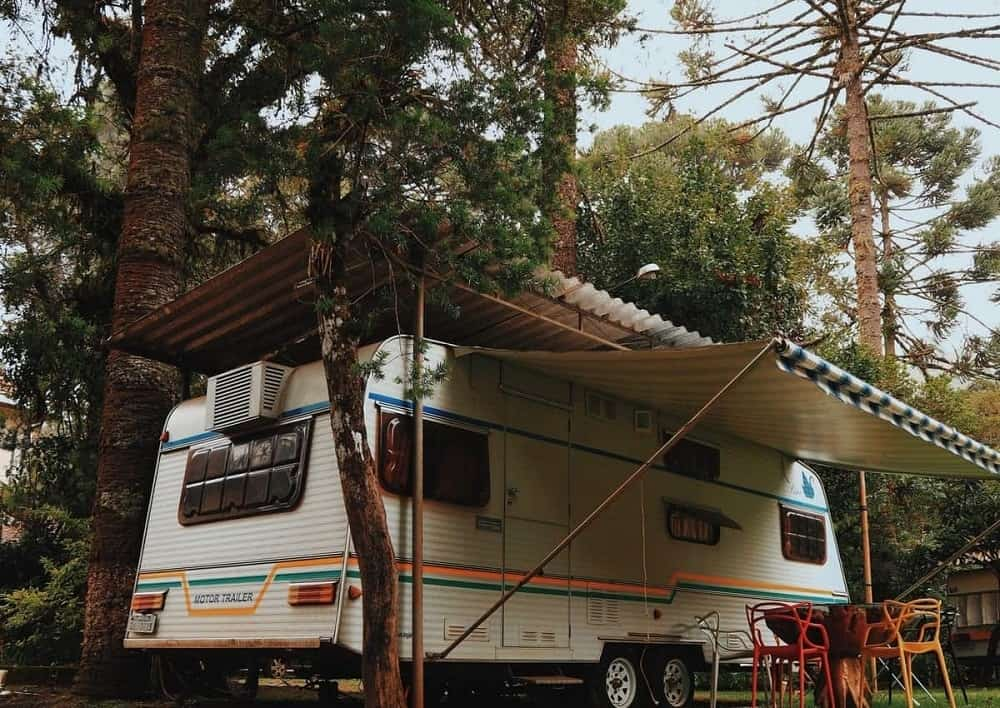 A look at one of the RV trailer in North Rim RV Campground.