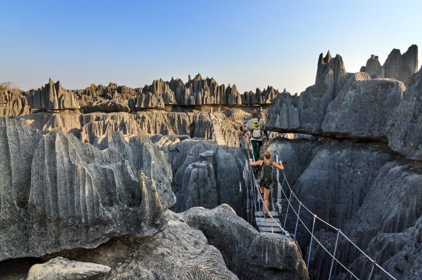 A look at the unique stone structures of Tsingy de Bemaraha Park.