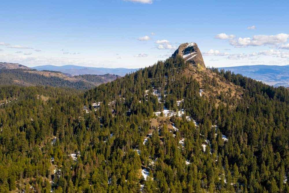 This is an aerial view of Pilot Rock.