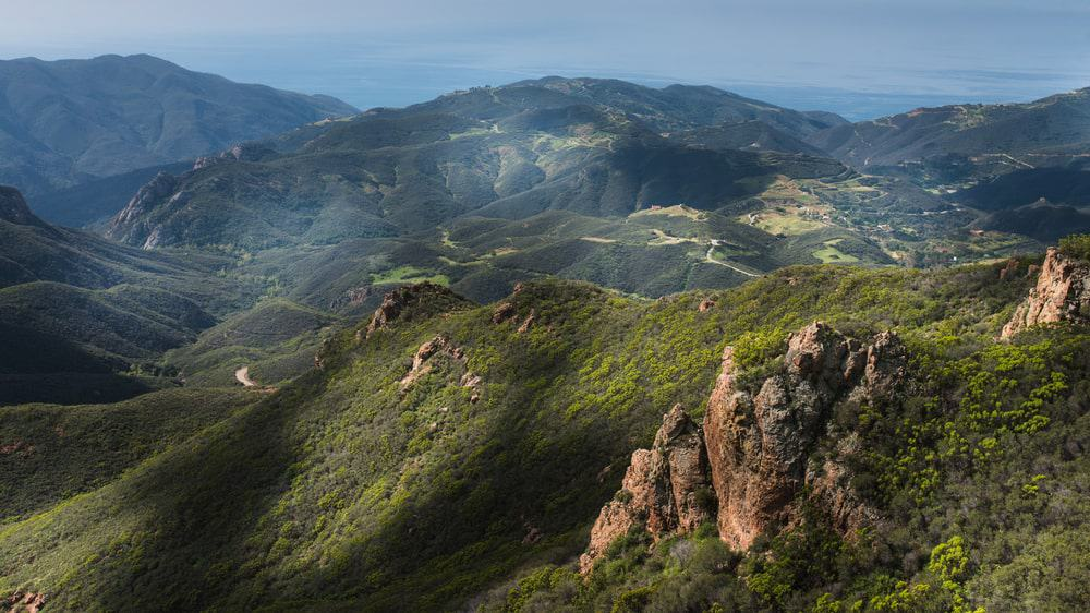 This is an aerial view of the massive TheSanta Monica Mountains.