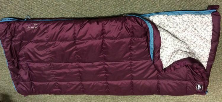 REI Siesta synthetic rectangular sleeping bag for under $100.