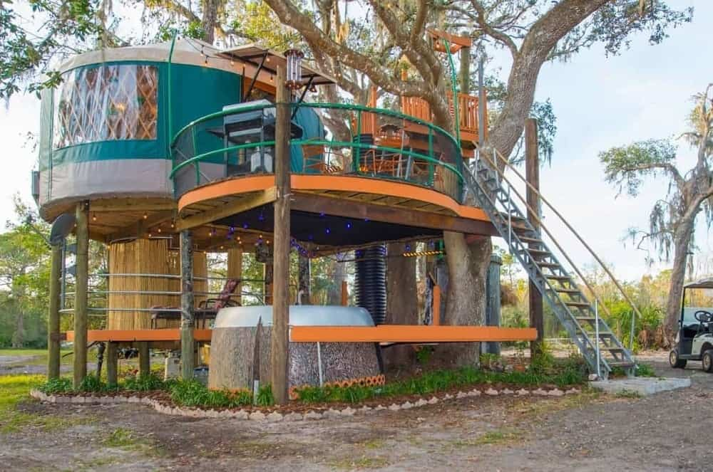 The Tree House Yurt at Danville Bed & Breakfast.