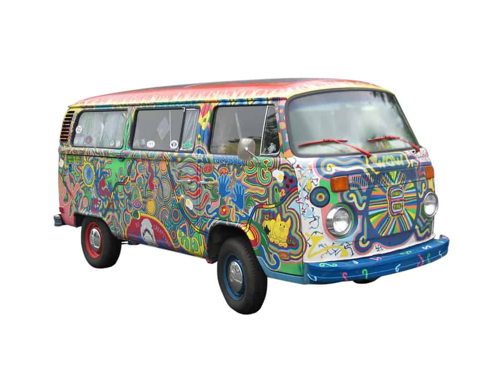 60's hand-painted van