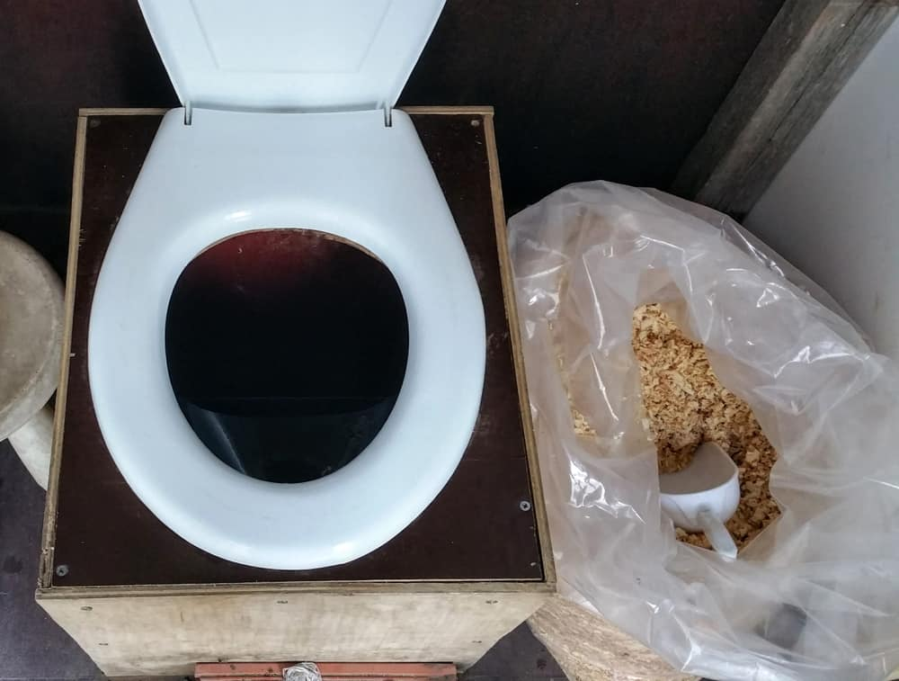 Self made compost toilet