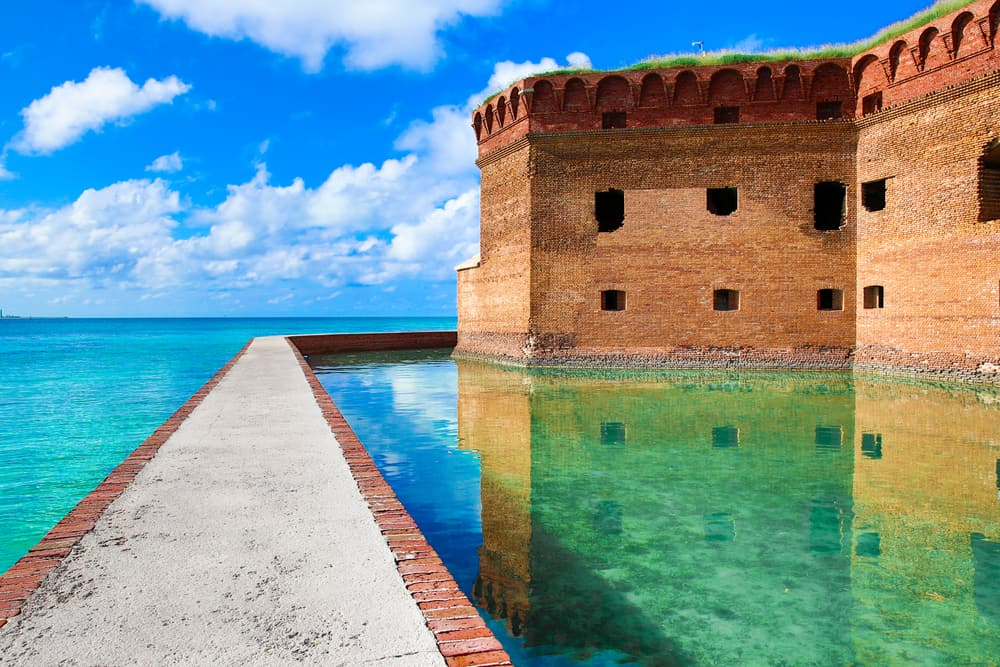 A view of Fort Jefferson in Dry Tortugas.