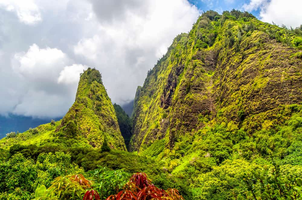 This is the Iao Needle in the west of Maui mountains.
